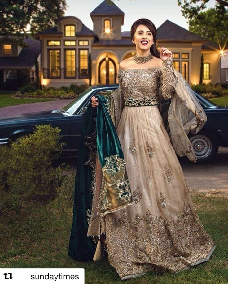 Our latest bridal campaign featuring the gorgeous and very talented actor @ushnashah  Makeup, hair and photography: @khawar.riaz.1 Jewelry: @goldbyreamamalik #nickienina #nickieninabridal #nouvellemariée #timelesscouture #Lahore #Karachi #Islamabad #fashiondiaries #fashionforward #opulent #desiwedding #pakistaniweddings # #Repost @sundaytimes with @repostapp ・・・ The fashion powerhouse @nickienina combines the pure essence of ethereal beauty and regal design inspiration with their latest c...