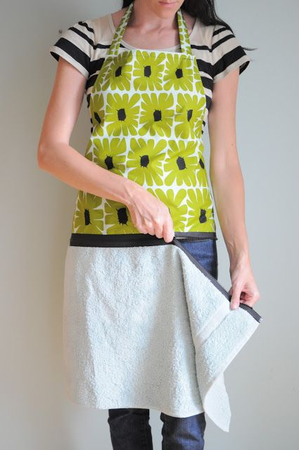 Hand Towel Apron With Zipper