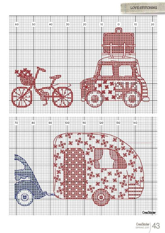 sweet Cath Kidson -like modes of transport very British cross stitch 2/2  -- ---  (1) Gallery.ru / Foto # 43 - ss238 - miroslava388