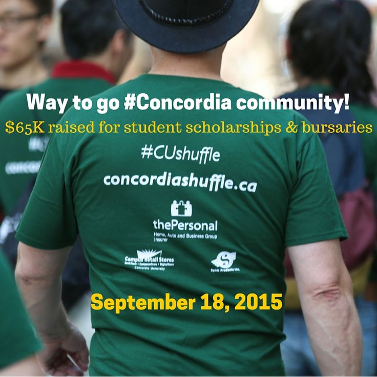 On Friday, September 18, 2015, members of the #Concordia community walked from the Sir George Williams to the Loyola campus to raise money for student scholarships and bursaries. #CUshuffle #CUalumni #SGW #Loyola #Montreal