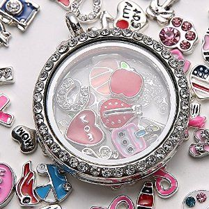 104 best lockets with charms inside images on pinterest origami necklace with charms inside locket aloadofball Image collections