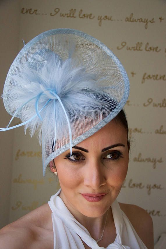 Victoria Light Blue Twist Fascinator Stunning from every angle. This mesh  twist fascinator has a look that s both daring and elegant. 4c94b8d6df7