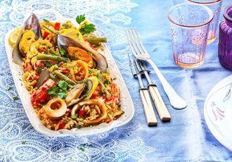 Παέγια (Paella) ισπανική με θαλασσινά-featured_image