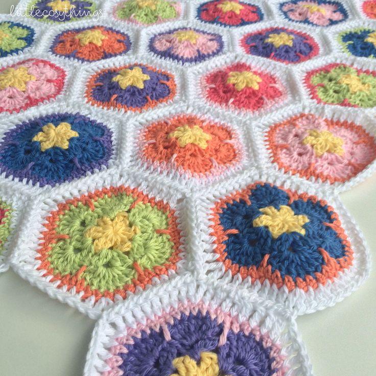 African Flower #Crochet Blanket by Little Cosy Things