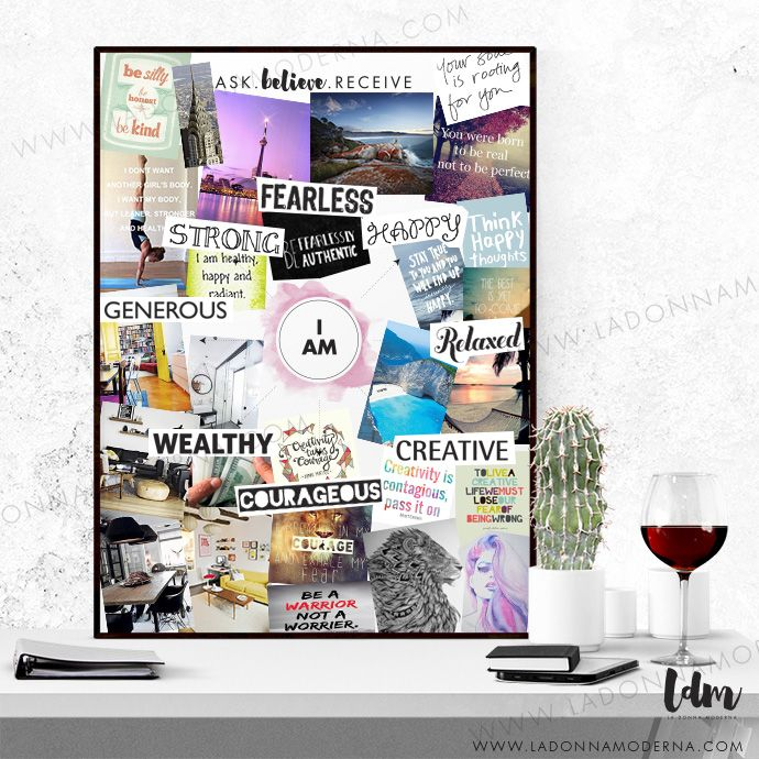 Make Affirmations To The Universe Of What You Want In Life Using Our Vision Board Template