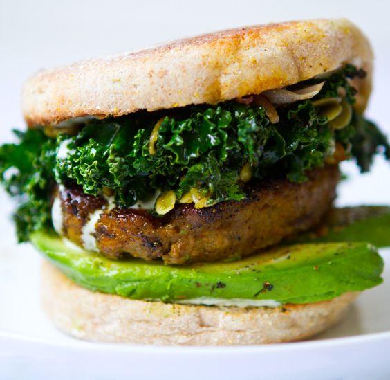 vegan breakfast sandwich.