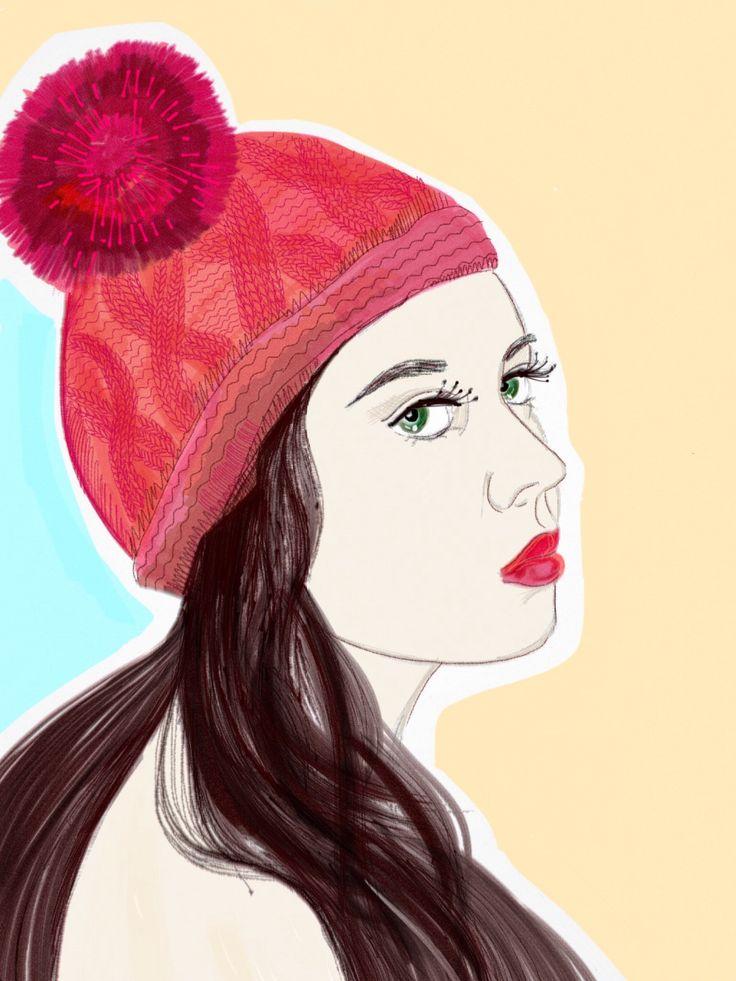 Графика, автопортрет (планшет+стилус)