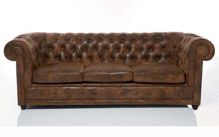 sofa 3 plazas chester clasico ford material madera de
