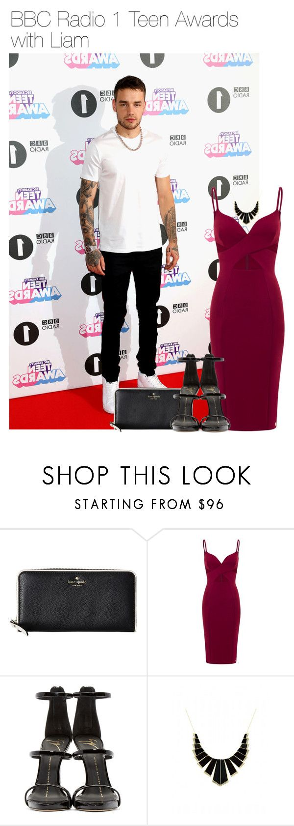 """""""BBC Radio 1 Teen Awards with Liam"""" by leftsouls ❤ liked on Polyvore featuring Kate Spade, Aloura London, Giuseppe Zanotti and House of Harlow 1960"""