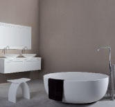 Description:Freestanding bathtub Material: Solid Surface white matt Code:1006521 Model:SolidROUND Size:D 135 x 49 (h ) cm