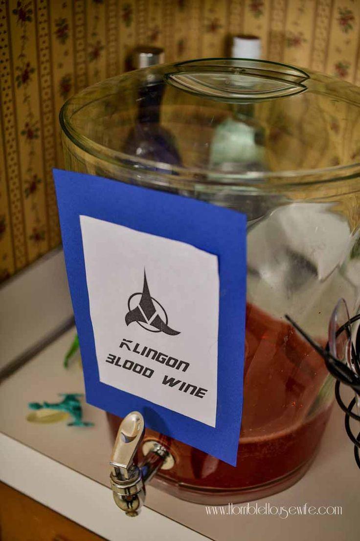 Klingon Blood Wine for a Star Trek: The Next Generation party