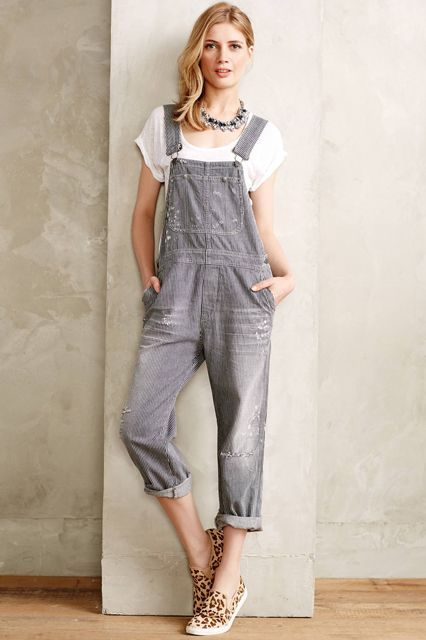 The Tomboy Way To Do Throw-On-&-Go #refinery29  http://www.refinery29.com/overalls#slide-8