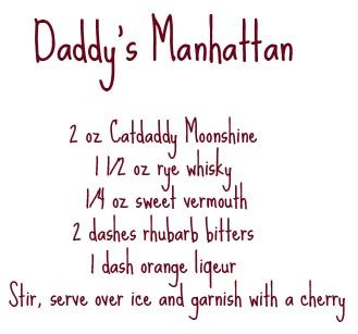 My dad loves his Manhattans - I'll have to make this for him!