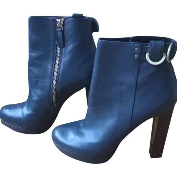 Pre-owned Reiss Boots (965 SEK) ❤ liked on Polyvore featuring shoes, boots, reiss, high heel boots, platform boots, platform shoes and high heel shoes