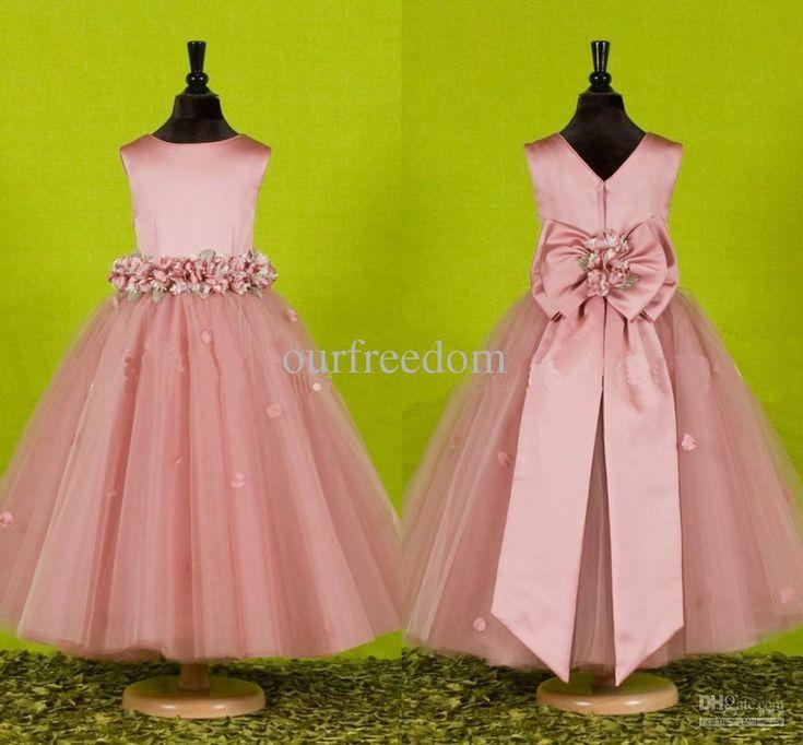 13 best Flower girl dresses images on Pinterest | Bridesmaids, Pink ...