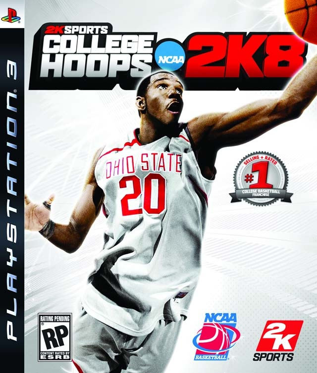 College Hoops 2K8 [PlayStation 3] - On the cover - Greg Oden, Ohio State Buckeyes