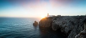 Sunset from Cabo de São Vicente, Europe's most southwesterly point. The cape was a sacred location for Celts, Greeks and Romans