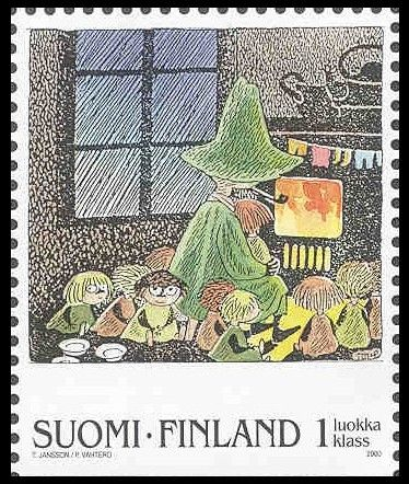 Snufkin and friends stamp