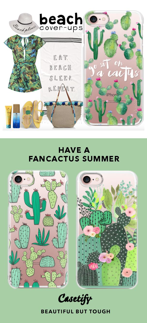 """Have a Fancactus Summer."" | Top iPhone 7 Cases and iPhone 7 Plus Cases for Cactus Lovers. For more Cactus Cases, shop them here ☝☝☝ BEAUTIFUL BUT TOUGH ✨ - Garden, Art, Desert, Palm Spring, Joshua Tree, Succulent, Las Vegas"