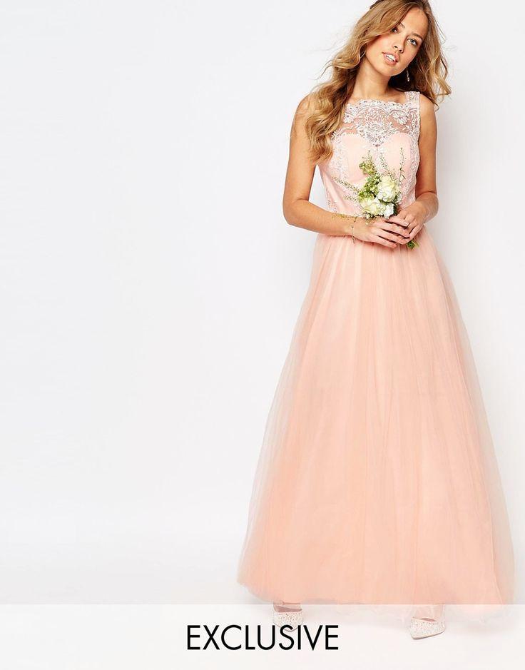 Chi+Chi+London+Bardot+Neck+Sleeveless+Maxi+Dress+with+Premium+Lace+and+Tulle+Skirt