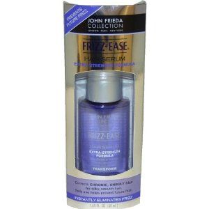 Frizz Ease Original formula Hair Serum by John Frieda for Unisex Serum, 0.8 Ounce by John Frieda. Save 50 Off!. $2.49. Protects and prolongs color. Contains sunscreen. Blocks frizz all day. Instantly and dramatically transforms dry, frizzy, or chemically-treated hair into incredibly smooth, glossy hair. An exceptional blend of silicones immediately smooths texture while delivering a layer of crystal-clear gloss for perfectly polished, frizz-resistant styles.