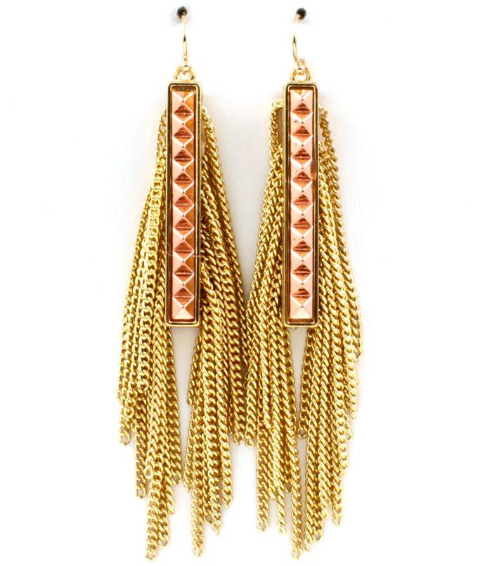 Gold Pyramid Earrings AU$24.95