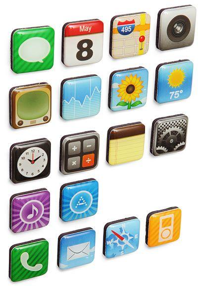 Imanes basados en los iconos de un iPhone
