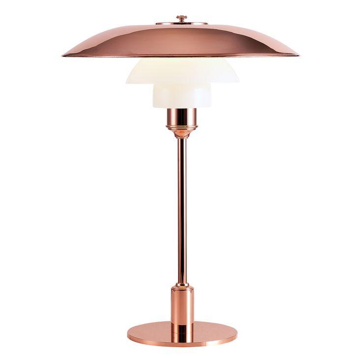 PH 3½-2½ bordslampa, koppar – Louis Poulsen – Köp online på Rum21.se