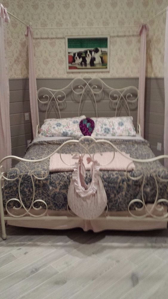 Pottery Barn Girl Canopy Bed Queen Size #PotteryBarn