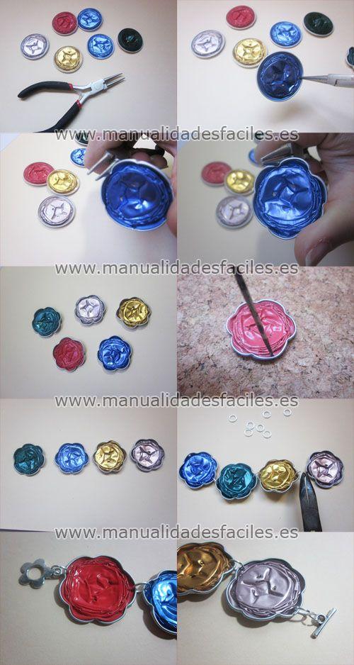 Bracelets with Nespresso capsules