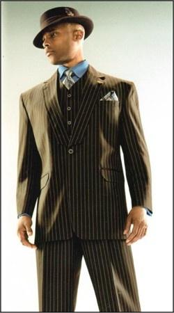 Men's Suits 3 Piece with 1 Button Stacy Adams Suit