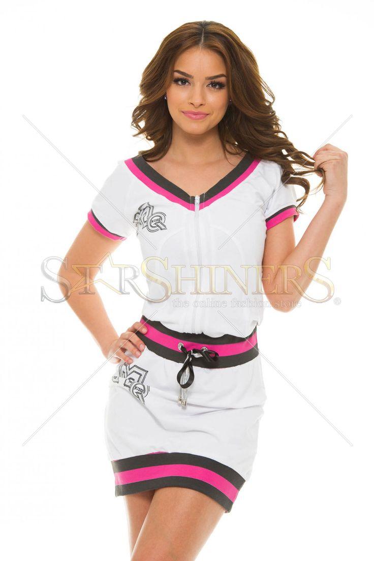 Rochie sport MissQ Trendy Athlete White - MuJeR.ro http://www.mujer.ro/rochie-sport-missq-trendy-athlete-white