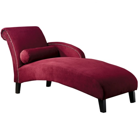 28 best images about cranberry color bedroom on pinterest for Burgundy chaise