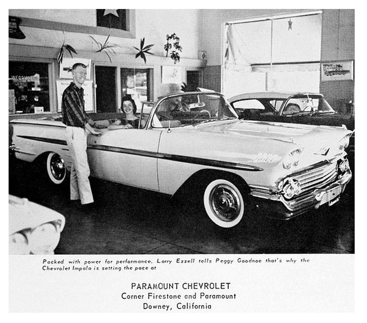 New Impala convertible… Paramount Chevy's showroom