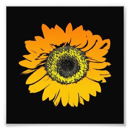 Sunflower Flower Art Design Photo Print - beauty gifts stylish beautiful cool