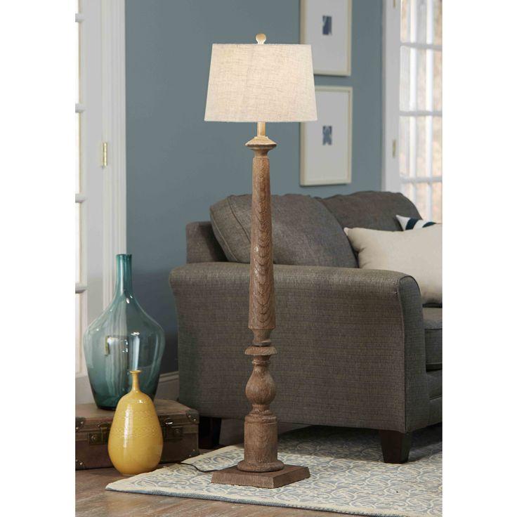 Shop Allen Roth Edensley 58 In 3 Way Switch Saddle Indoor Floor Lamp