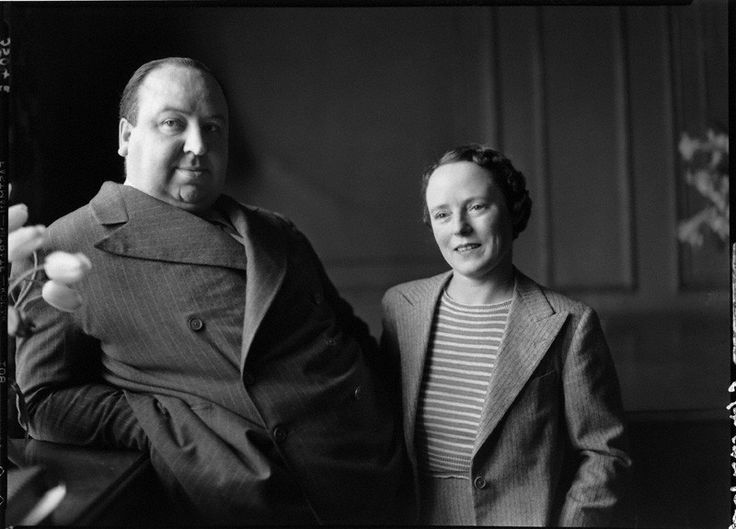 sir alfred hitchcock and mrs, alma reville - 54 years marriage - alma was his husband artistic soulmate and editor to most of his films- interesting