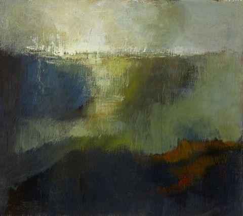 Margaret Egan, Seapoint I, acrylic on board, 10'' x 10''