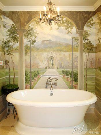 Segreto Fine Paint Finishes And Plasters Plaster Houston Tx Murals Bathroom