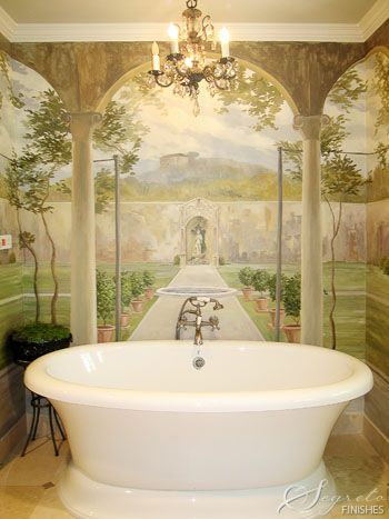 I think you would feel like you were taking a bath in a garden  WOW. 17 Best ideas about Bathroom Mural on Pinterest   Murals  Wall