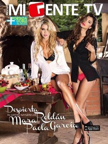 @Mara Roldan en la portada de la revista #MiGenteTv