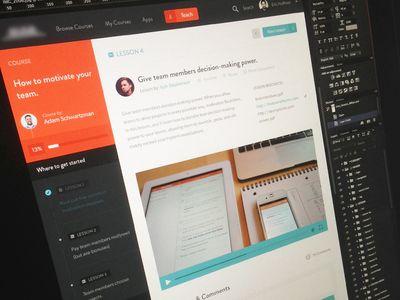 Articulate Focus web design  orange black white