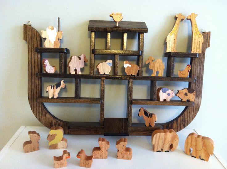 handmade wooden Noah's Ark toy shelf, ldaisykate: 29 Weeks
