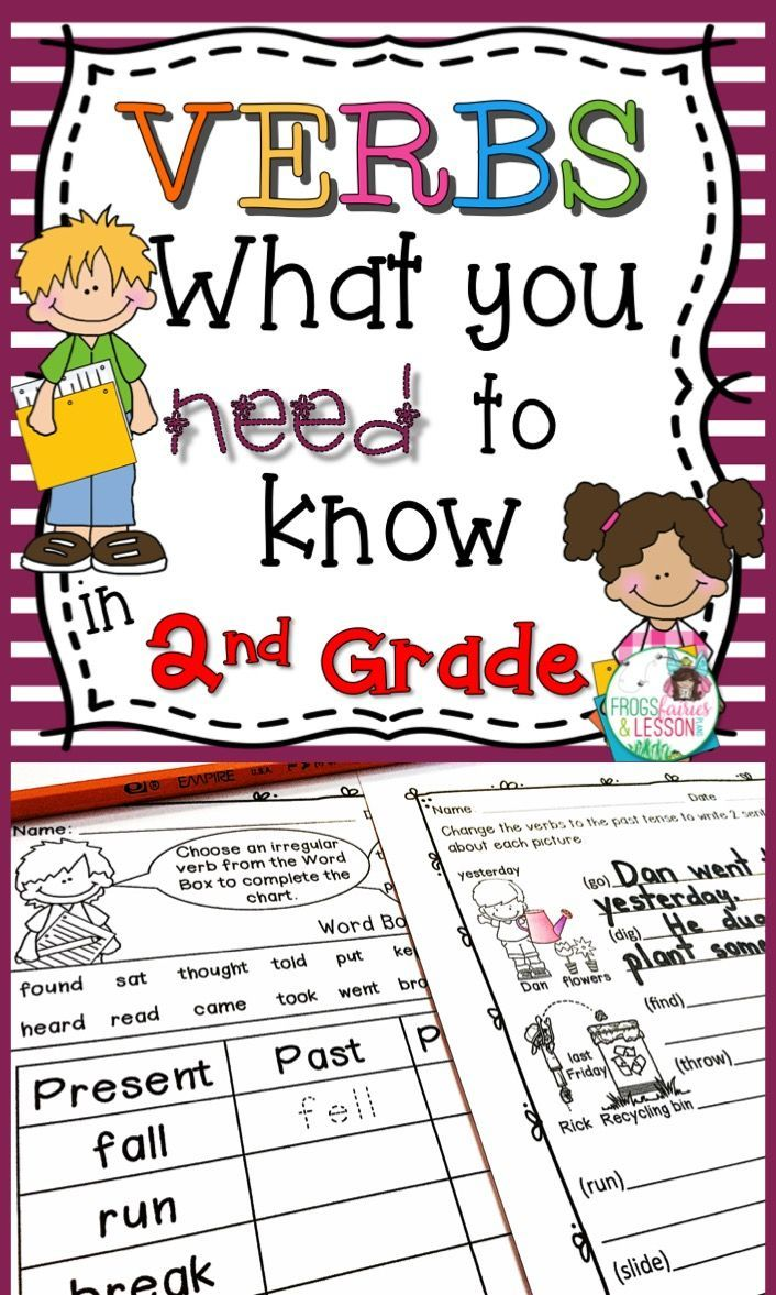 Second Grade Verbs practice worksheets and Literacy Center activities. This  Common Core aligned r…   Verbs activities [ 1177 x 706 Pixel ]