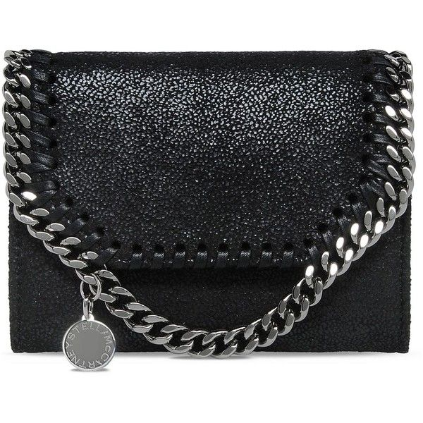 Stella McCartney Black Falabella Shaggy Deer Small Wallet ($340) ❤ liked on Polyvore featuring bags, wallets, accessories, clutches, black, deer wallet, zip wallet, stella mccartney bags, stella mccartney and zipper bag