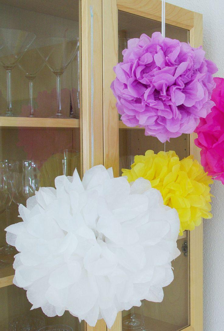 Dekoration selber machen geburtstag  Die besten 10+ Pompons selber machen Ideen auf Pinterest | Pompoms ...