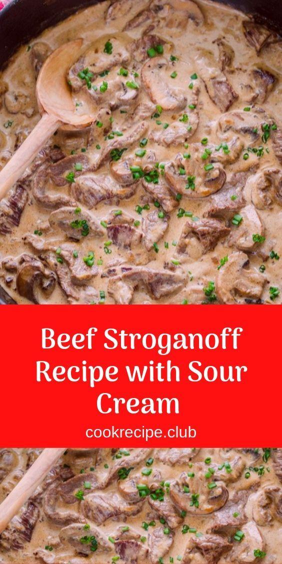 Stroganoff Recipe With Sour Cream