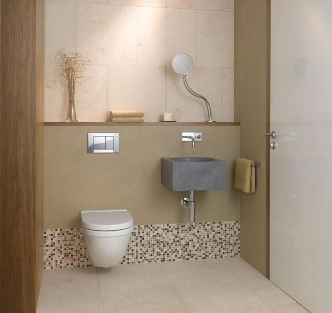 "Duravit ""Starck 3"" toilet with Bolero flush plate in polished chrome"