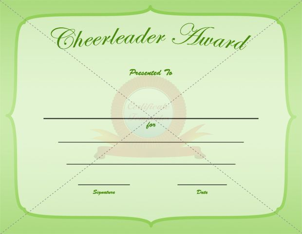 cheerleading certificate templates free - 17 best images about cheerleader award templates on