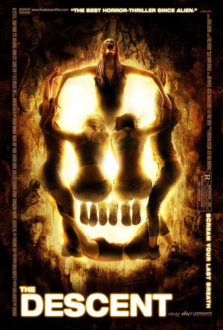 The Descent.  2005.  I love this design.  A bit of a steal from the Death's Head Moth design on The Silence of the Lambs poster, but I forgive it.